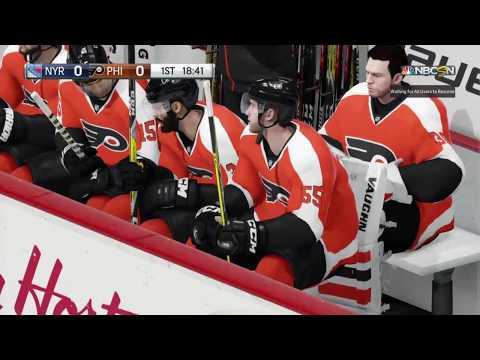 Rangers at Flyers, NHL 18 beta