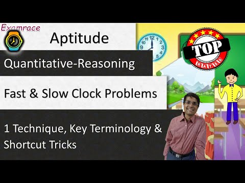 Fast and Slow Clock Problems: 1 Technique, Key Terminology, and Shortcut Tricks