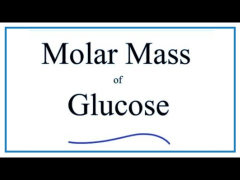 Molar Mass Molecular Weight Of C6h12o6 Glucose Youtube