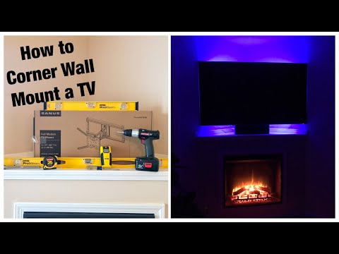 Sanus Full-Motion Tilt/Swivel Corner TV Wall Mount Installation & Review! (Sanus OLF18)