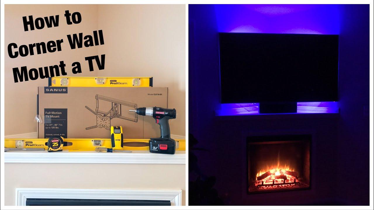 S Full Motion Tilt Swivel Corner Tv Wall Mount Installation Review Olf18