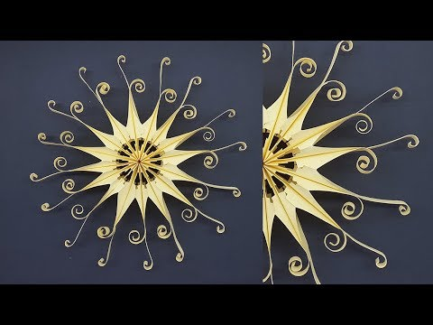Christmas Decoration Ideas | DIY 3D Quilling Paper Snowflakes | Christmas Tree Ornaments