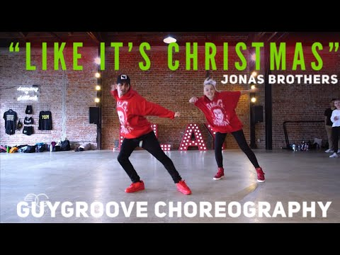 """Like It's Christmas"" | @Jonasbrothers | @GuyGroove Choreography - SANTA SHOWED UP TO CLASS!!!"