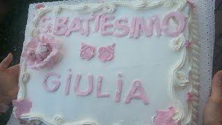 Come decorare una torta alla panna per un battesimo