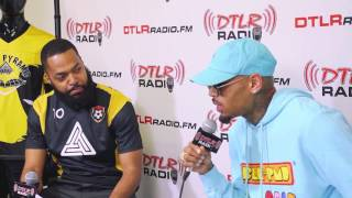 DTLR Style Suite | CHRIS BROWN talks w/King Flexxa about Black Pyramid