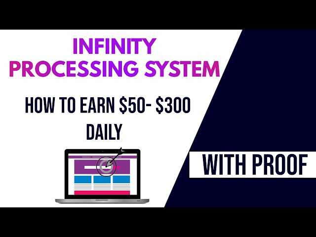 Infinity Processing System | HOW YOU CAN EARN PAYMENTS OF $50 - $300 DAILY