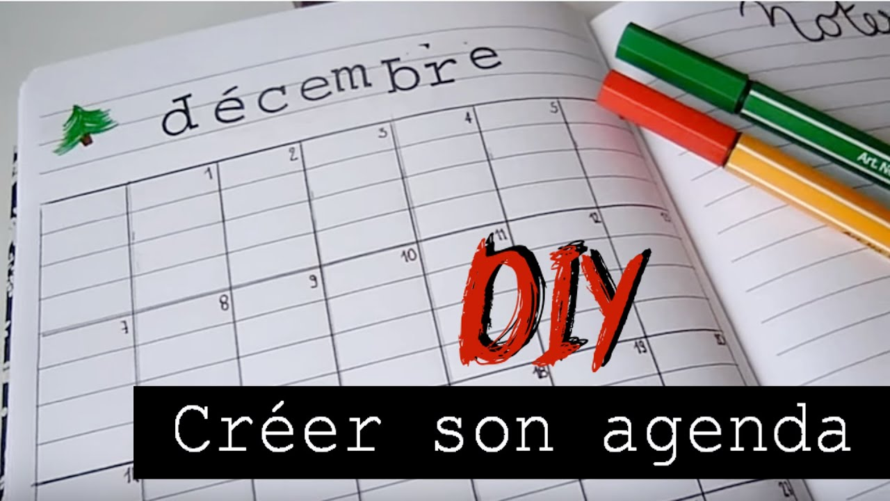 Favori DIY ✄ créer ton agenda / DIY note planner - YouTube FN54