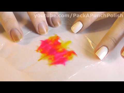 Easy Tie Dye Nail Art Tutorial Using Plastic Wrap