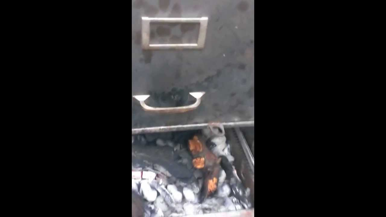 Filing cabinet smoker by Drizz - YouTube