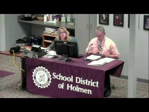School District of Holmen December 19th, 2016 Board Meeting
