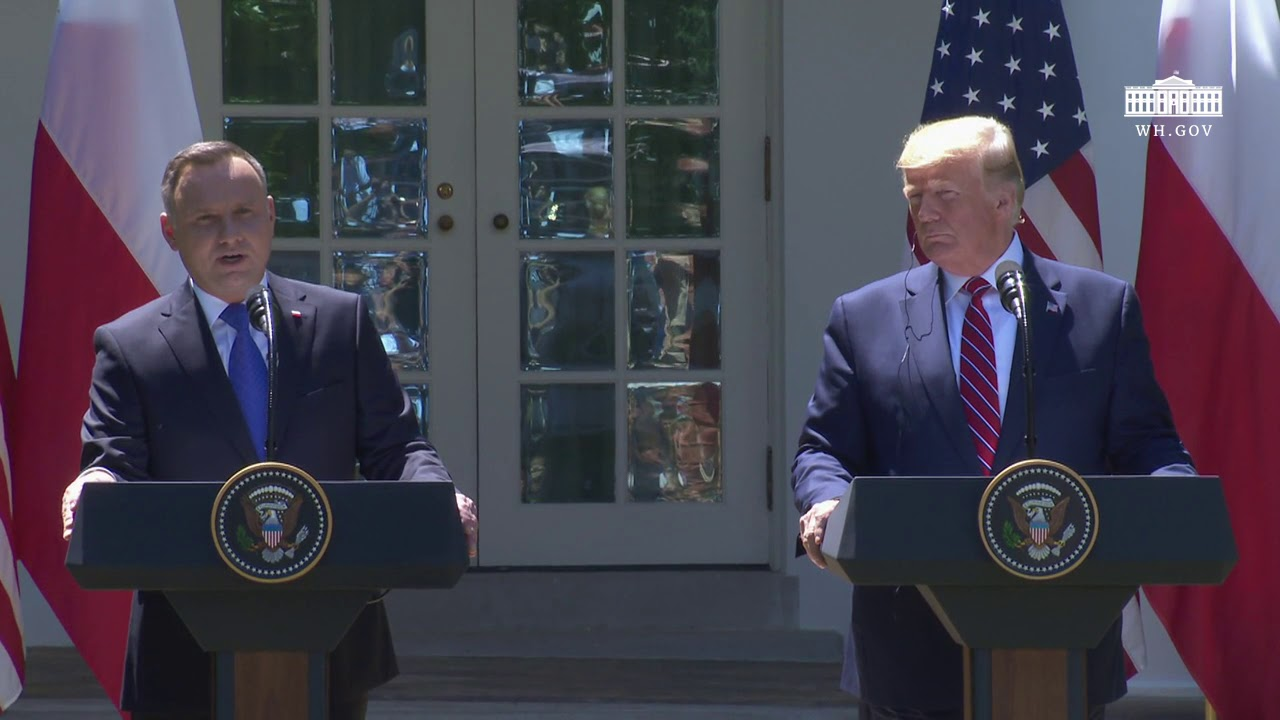 The White House - President Trump Participates in a Joint Press Conference with the President of Pol