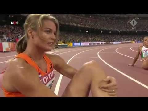 Dafne Schippers wins gold on the 200 meters in Bejing 2015 (HD upload).