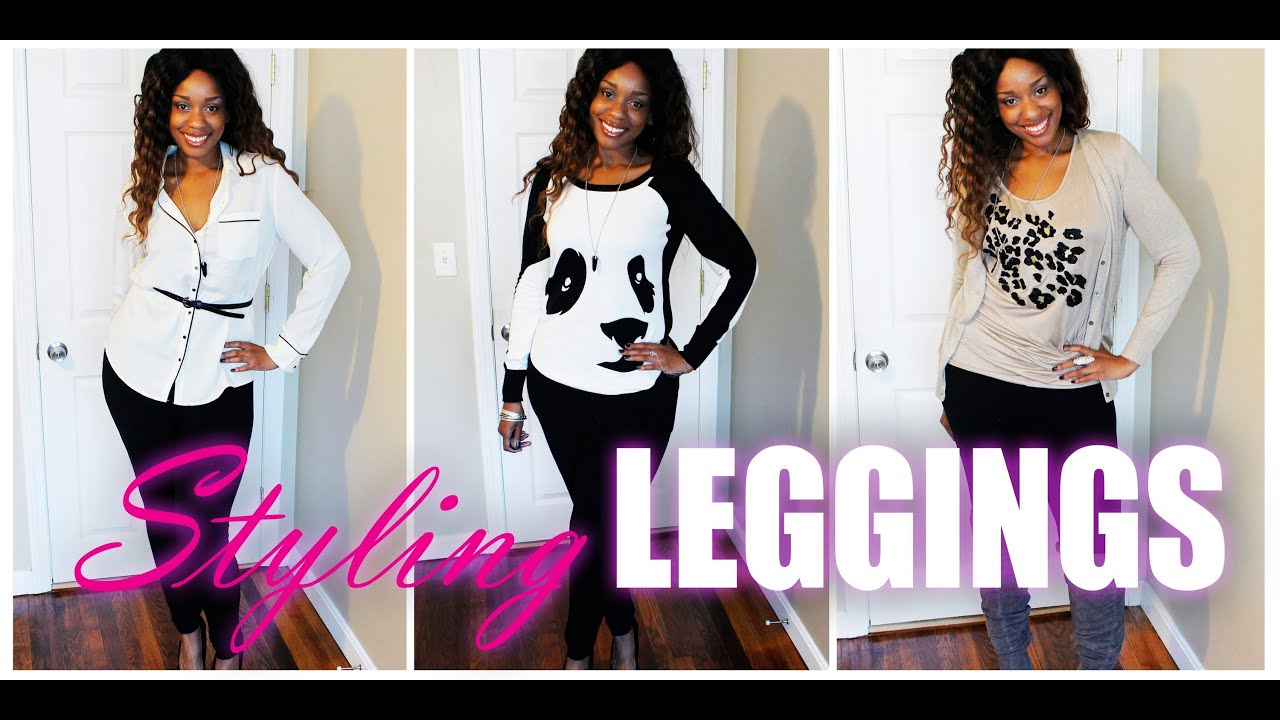 Fall Lookbook | Styling Black Leggings | Curvy Edition - YouTube