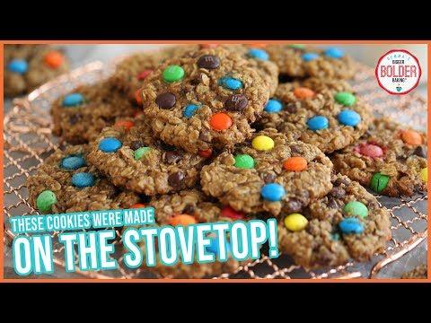 Easy Stovetop Cookies (No Oven Needed!) | Monster Cookies Recipe | Bigger Bolder Baking