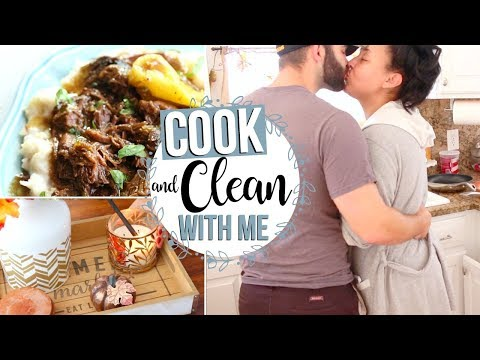 COOK & CLEAN WITH ME 2017 | DAY IN THE LIFE OF A HOMEMAKER | Page Danielle