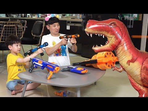 공룡 헬륨 풍선 장난감 놀이 뉴욕이랑 놀자 Dinosaur Helium Inflatable NY Toys
