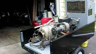 Turbine generator in new trailer