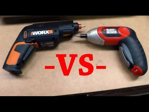 WORX 12 Bit Cordless Screw Driver Review and comparison with my Black & Decker