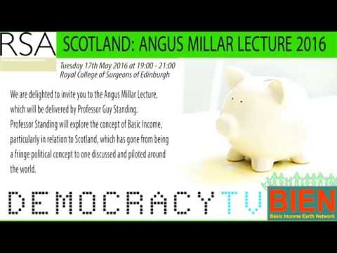 Professor Guy Standing - Basic Income - in relation to Scotland