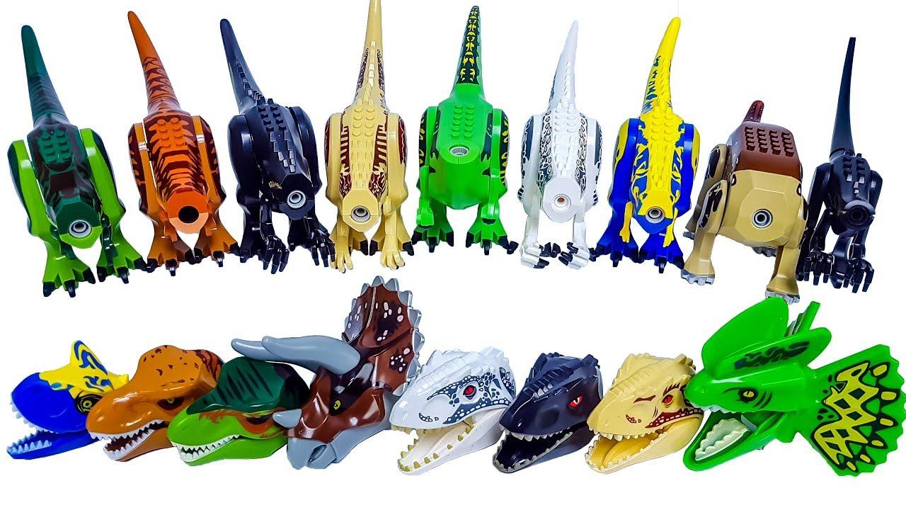 Learn Dinosaurs Names with Jurassic World Lego Dinosaur's ...