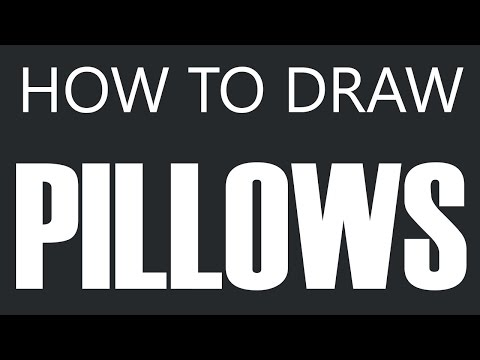 How To Draw A Pillow - Down Feather Pillow Drawing (Seat Cushions)
