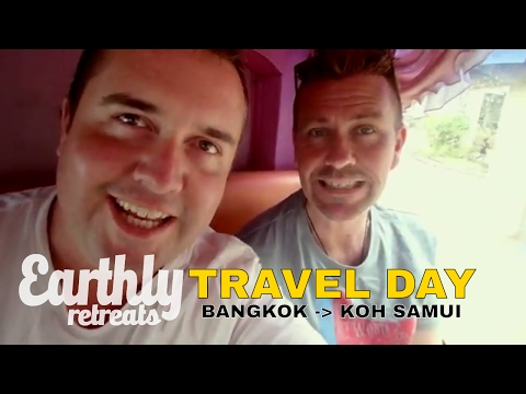Bangkok to Koh Samui Travel Day – Air Asia to Surat Thani – Travel Vlog – October 2016 – Thailand