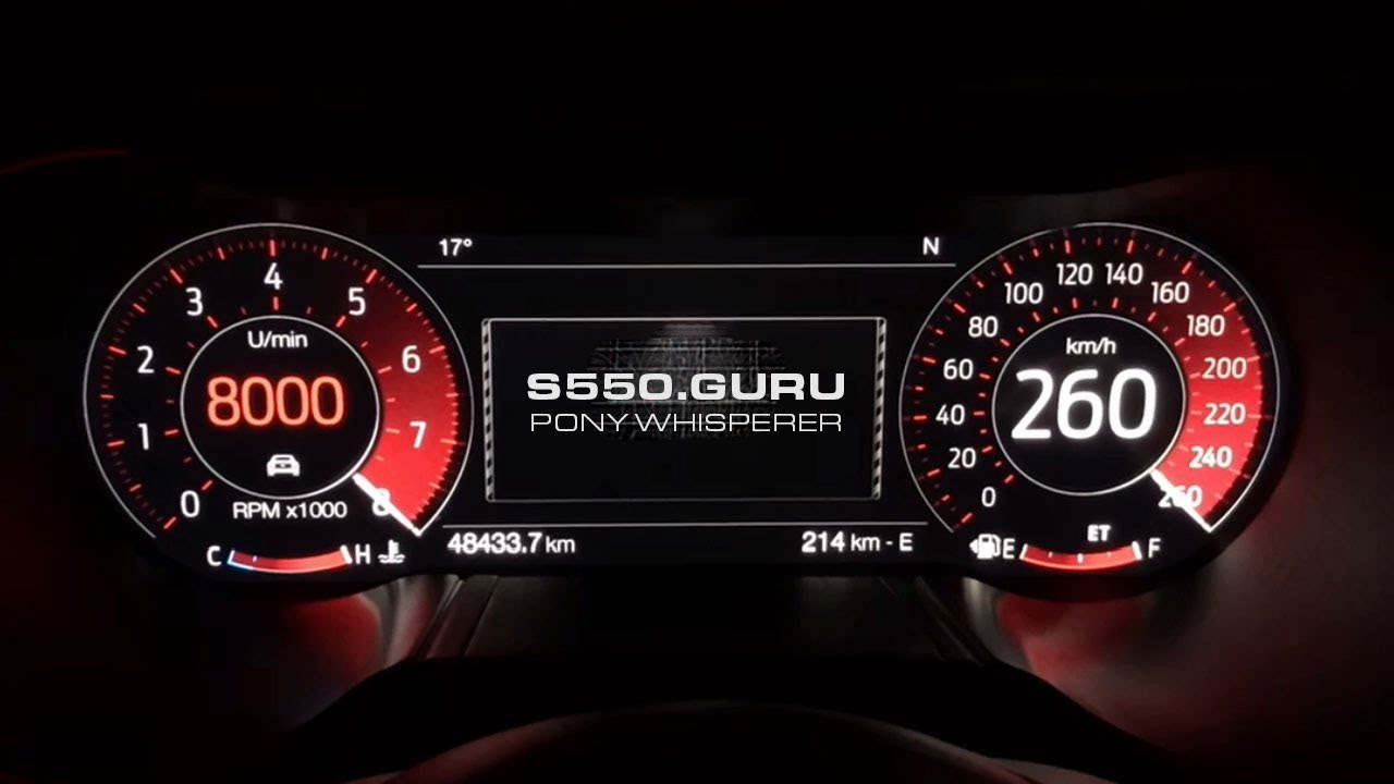 2018 Ford Mustang TFT Gauge Test ETM Sweeps