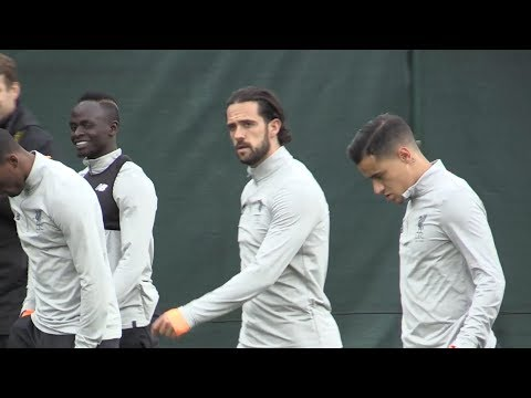 Liverpool Train Ahead Of Champions League Clash With Sevilla (With Coutinho)