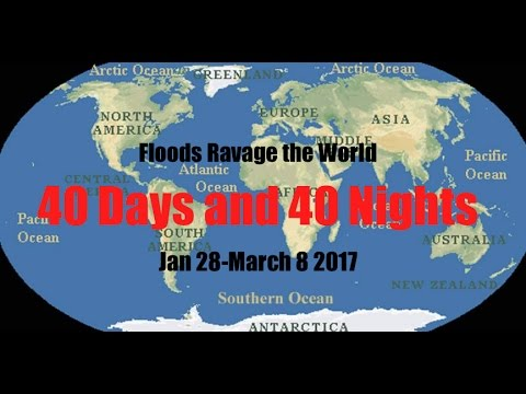 *WORLD FLOOD CHAOS* // 40 days-40 nights Global flooding! / Perspective View-2017