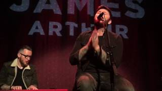 """James Arthur covers Ariana Grande's """"Into You"""" and R Kelly's """"Remix to Ignition"""" in NYC"""