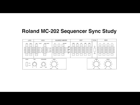 CLOCKING THE ROLAND MC-202 FOR PLEASURE (IF NOT FOR ONE STEP PER PULSE)