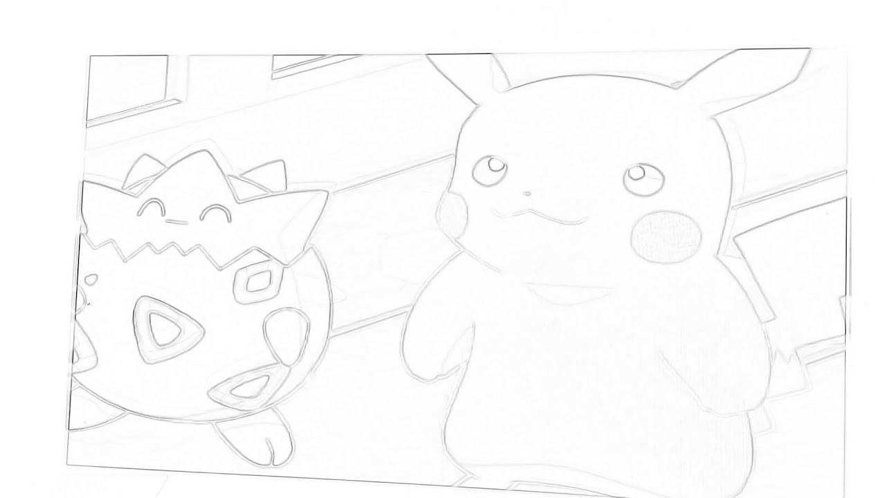 Pokémon master quest ash races jessie and james anime sketched