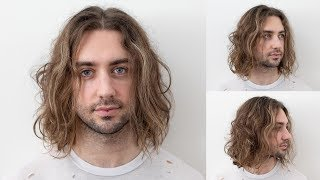 How To Cut Men's Long Hair   Easy To Follow Layering Technique   Beginner Barber Haircut Tutorial