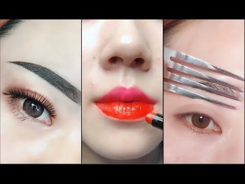 amazing makeup tricks 💄😱 easy eyeliner  eyebrow and