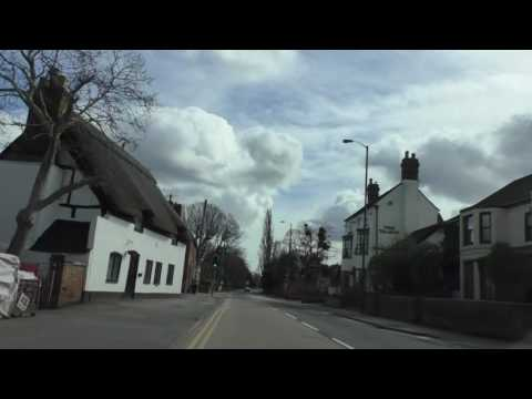 Driving On The A38 From Worcester To Tewkesbury, England 28th March  2016