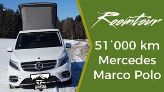 Mercedes Marco Polo Roomtour - 51´000 km Erfahrungs-Check mit V-Klasse Camper