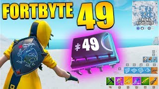 Fortnite Fortbyte 49 ❄️ Troks Cave | All Fortbyte Places Season 9 Utopia Skin English