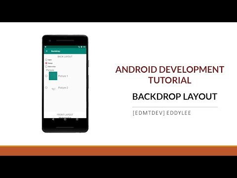 Android Development Tutorial - Backdrop Layout thumbnail