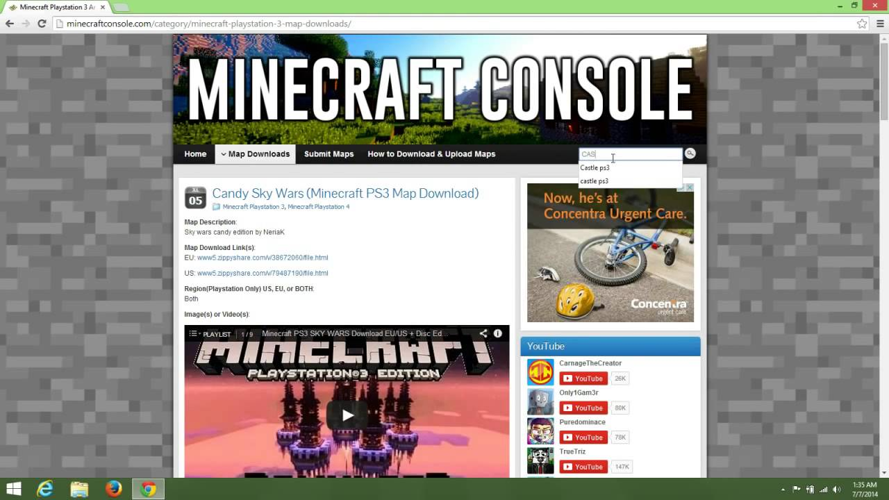 How To Download Minecraft Maps For Ps Using USB Drive YouTube - Minecraft ps3 us disc maps