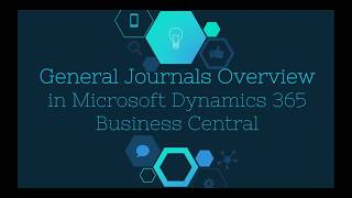 Journals Overview in Microsoft Dynamics 365 Business Central - WebSan Solutions Inc
