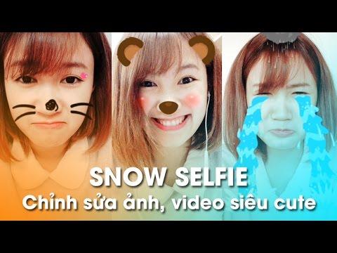 Snow Selfie - Ứng Dụng Chỉnh Sửa Video Siêu Cute