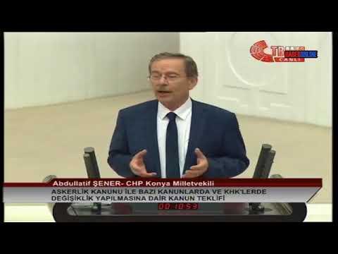 Abdüllatif Şener | Meclis Konuşması | 25 Temmuz 2018 | Torba Yasa Görüşmeleri