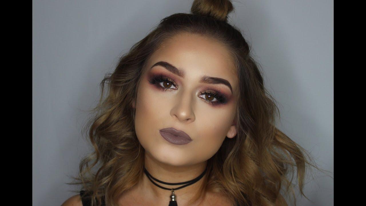 Smoked Out Purple Edgy Makeup Tutorial | Jenn Lee
