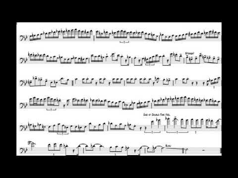 Carl Fontana (Unidentified) Blues Trombone Solo Transcription