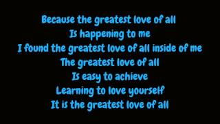 Whitney Houston - Greatest Love Of All (Lyrics HD)