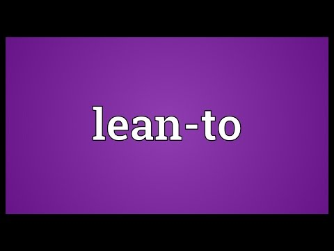 Lean-to Meaning