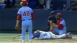 Noles throws high and inside to Brett in 1980 WS Gm4