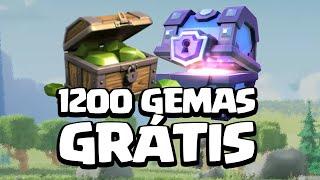 COMO GANHAR 1200 GEMAS GRATIS EM 3 DIAS - CLASH OF CLANS
