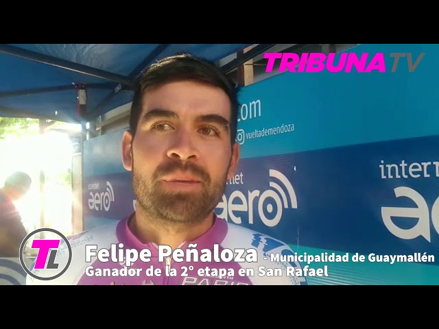 Felipe Peñaloza ganador 2° etapa Vuelta de Mendoza 2020