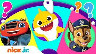 Spin the Wheel of Friends w/ Baby Shark, Paw Patrol & Blaze!  Ep. 9 | Nick Jr.